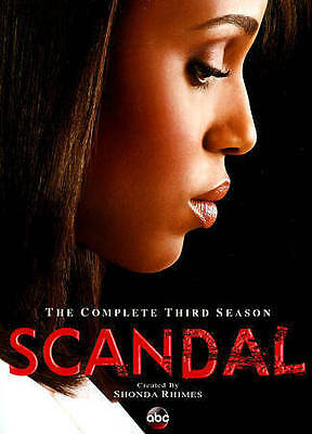 Scandal: The Complete Third Season (DVD, 2014, 4-Disc Set) NEW SEALED!