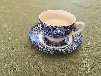 Liberty Blue Old North Church Tea Cup And Saucer