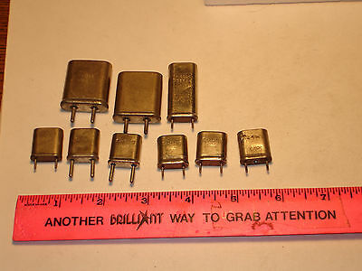 1 Lot Of 9 Vintage Frequency Standard / Crystal Calibrator Crystals