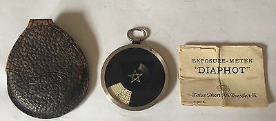 Zeiss Ica Diaphot Extinction.Exposure Meter, w/ case and Instructions.