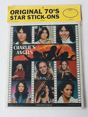 CHARLIE'S ANGELS TV Show 1970's Collage Original 70's Star Stickers-Package 1978