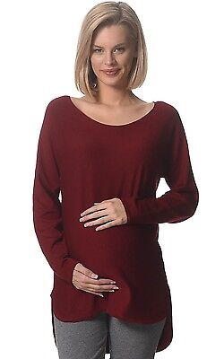 BNWT  Knitted Maternity Jumper - Red Wine - Sizes 8,10,12,14 & 16
