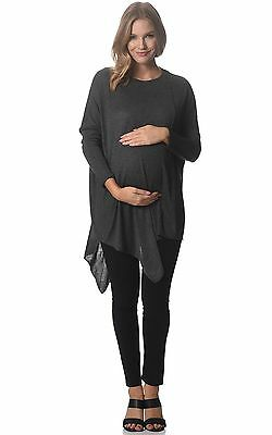 BNWT  Assymetric Maternity Jumper - Dark Grey - Sizes 8,10,12,14 & 16