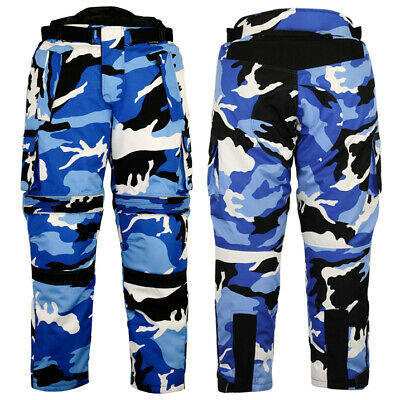 Cordura Motorcycle CAMO Textile Pants Cargo 100% Waterproof CE Approved armor