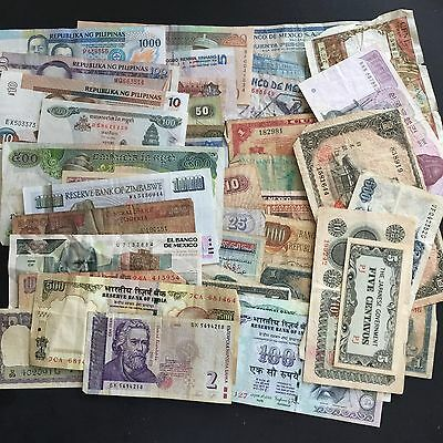 Mixed lot World Foreign Paper Money Currency Banknote Collection Lot France