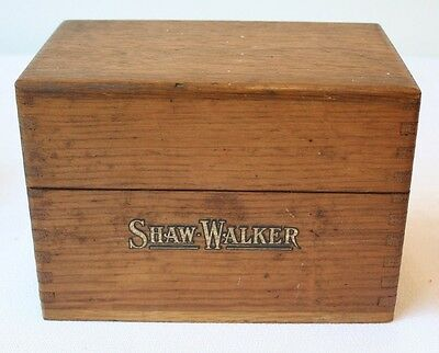 Antique Oak Dovetail Recipe Index Card File Box Shaw Walker Wood
