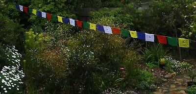 Tibetan Prayer Flags 25 Large Size  Made In Nepal Free Postage