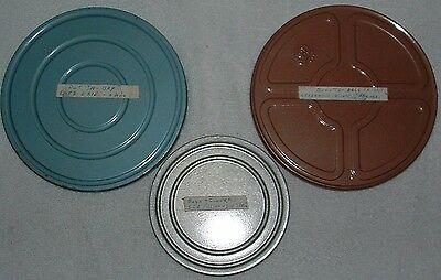"""VINTAGE 8MM Home Movies - Two 7"""" & One 5"""" - Scouting, Lake Erie and Ice Fishing"""