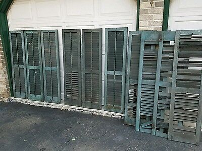 10 Early Antique Mortise And Tenon Architectural Interior Exterior Shutters
