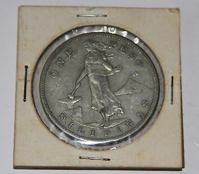 Collectible 1907 U.s. Filipinas One Peso 1C Coin.....nice Coin...silver.....