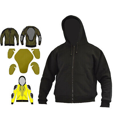Motorcycle Armour Protective Fleece Hoodie Reinforced With DuPont™ Kevlar® Fibre