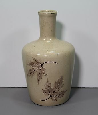 """One Forest Impressions Maple Leaf Vase 7 1/2"""" - Nemadji Pottery  Made in USA"""