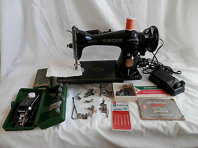 Singer Heavy Duty Industrial Strength 15-91 Sewing Machine + Attachments