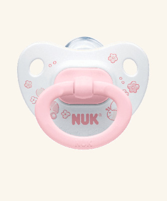 NEW NUK Baby Rose Silicone Soother Age Group 1 (TWIN Pack)