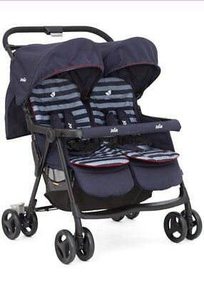 NEW Joie Aire Twin Stroller Nautical Navy
