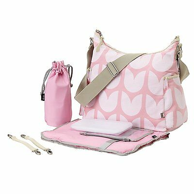 New Oioi Pink Tulip Hobo Nappy Bag (6652)
