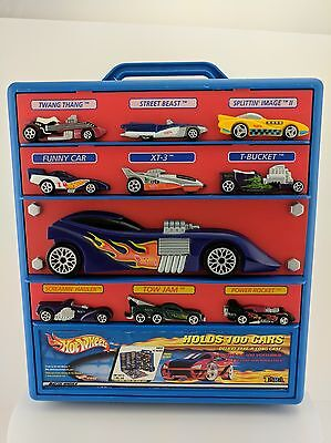 Hot Wheels Cars Mattel Carrying Case Storage with Wheels Holds 100 Cars Travel