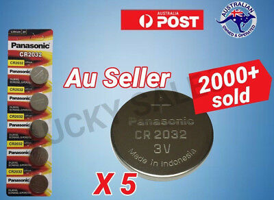 5 Panasonic Lithium 3V Battery CR-2032 CR2032 coin cell ECR-2032 EXPIRY 04-2021