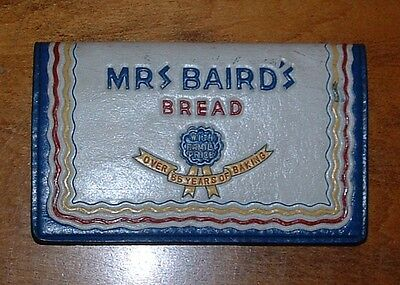 Vintage MRS BAIRD'S BREAD Leather Checkbook Cover, Credit Card Holder -Very Rare