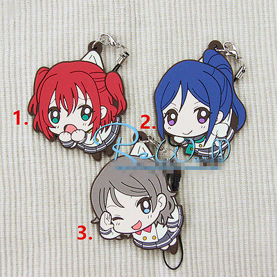 T394 Hot Japan anime Lovelive Love Live! rubber Keychain Key Ring Rare Cosplay