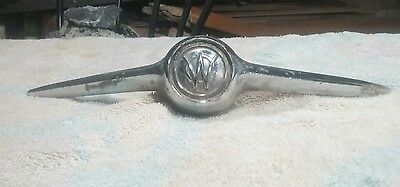 Vtg 1947-64 Willys Truck Jeepster Sedan Delivery Wagon Hood Ornament Chrome OEM