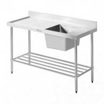 Simply Stainless Single Sink with Left Dishwasher Inlet 1650x600x900mm Left Side