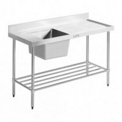 Simply Stainless Single Sink with Right Dishwasher Inlet 1200x600x900mm Right