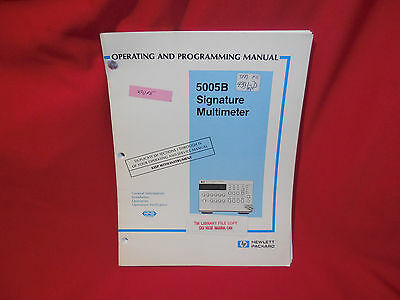 Hewlett Packard HP 5005B Signature Multimeter Operating & Programming Manual