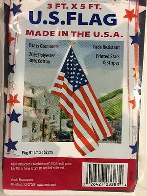 3 Ft X 5 Ft Made In Usa Fade Resistant American Flag
