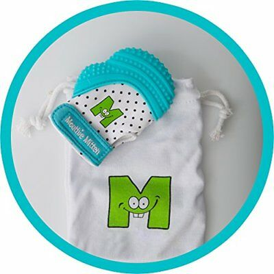Mouthie Mitt Baby Teething Glove Aqua Unisex - USA Award Winning Baby Mitten