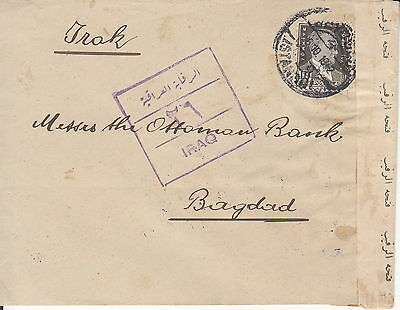 TURKEY: 1942 WWII Censored Cover: Istanbul- Baghdad (Iraq)