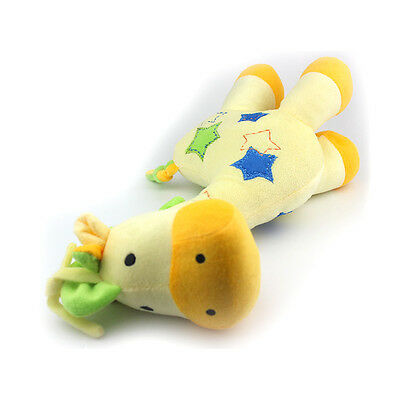 Plush Rattle Giraffe Doll Musical Baby Toy 1 PC Super Soft Early Educational