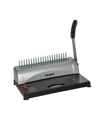 Texet Office Home Comb Spiral Binding Machine 21 Hole Plastic Coil Punch Binder