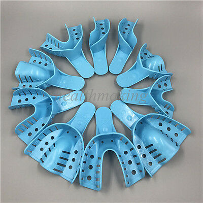 10 Pcs/Set Dental Disposable Supply Impression Trays Perforated Autoclavable
