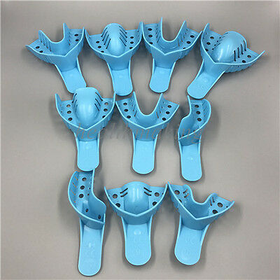 Dental Plastic Disposable Impression Trays Perforated Autoclavable Assorted 10PC