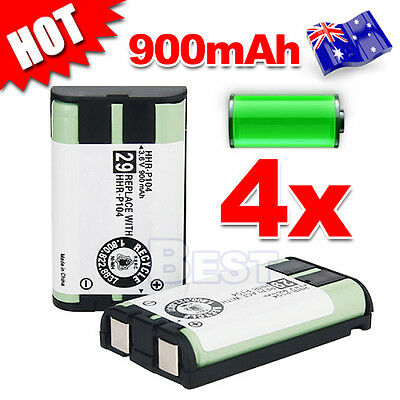 4x 3.6V 900mAh Replacement For Panasonic HHR-P104 Battery Cordless Phone HHRP104