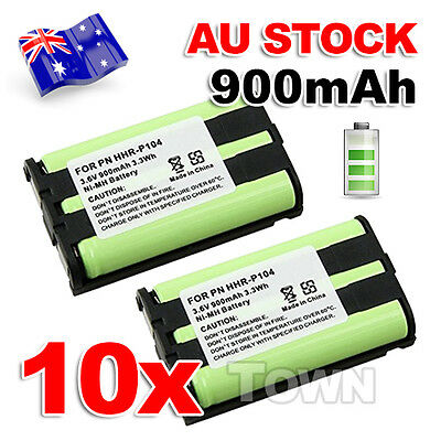 10x 3.6V 900mAh Ni-MH Cordless Phone Battery Replacement For Panasonic HHR-P104