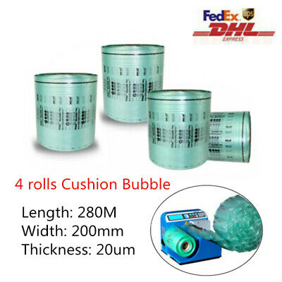 4 Rolls 280M/roll 200*150mm Cushion BubbleAir Pillow for Mini Air Easi Size New