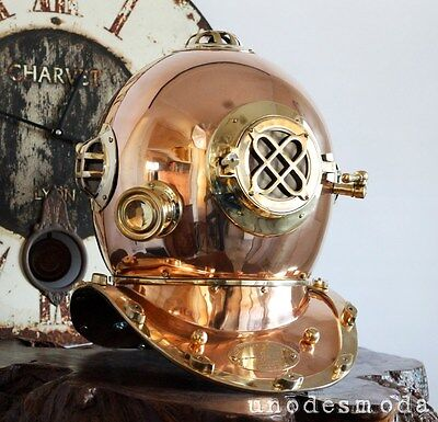 SOLID BRASS COPPER DIVING HELMET FULL SIZE Quality Expensive Fancy Gift Present