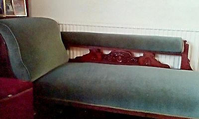 Antique carved Wood Framed Single End Chaise Longue Excellent condition