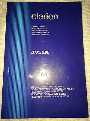 Clarion Dtx509E Digital Tv Manual Booklet English Francais Italiano Free Post