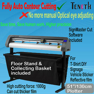 "51"" 130Cm Arms Fully Auto Contour Vinyl Cutter Plotter Sign Sticker Cutting"