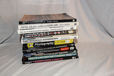 12 PHOTOGRAPHY BOOKS. Good joblot, collection. Exposure, Landscape, Lighting etc