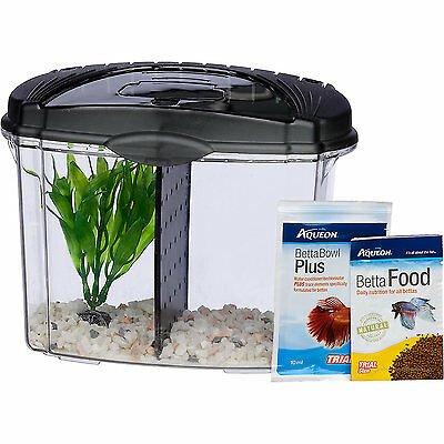 Aqueon Mini Bow Kit Betta Black  & blue.5gal
