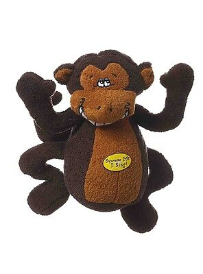 Multipet Deedle Dude Singing Monkey Plush Dog ToyFree Shipping In USA