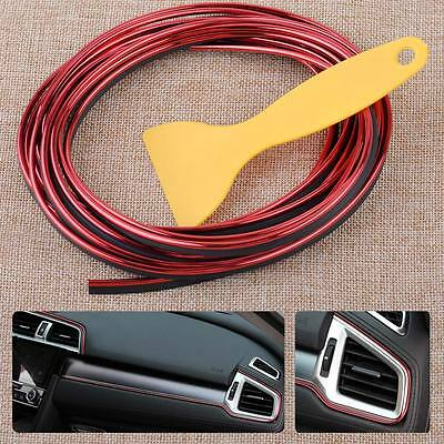 Universal 5M Car Styling Moulding Decorative Red Filler Strip Interior Exterior