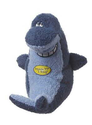 Multipet Deedle Dude Singing Shark Plush Dog ToyFree Shipping In USA