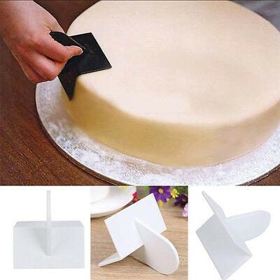 Cake Cutter Decor DIY Easy Glide Fondant Smoother Polisher Kitchen Tool White CN