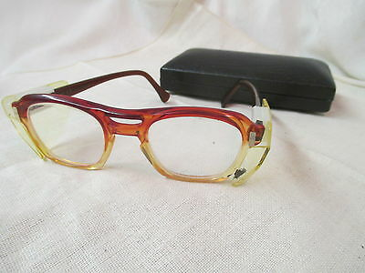 Vintage AO American Optical Flexi-Fit Eyeglasses with side shields 6M