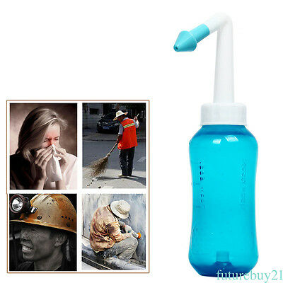 300m Nose Wash Cleanser Bottle Allergy Relief Nasal Pressure Rinse Neti pot WQ99